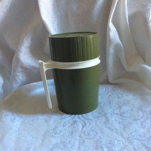 Vintage THERMOS brand Green 1 quart MCM EUC